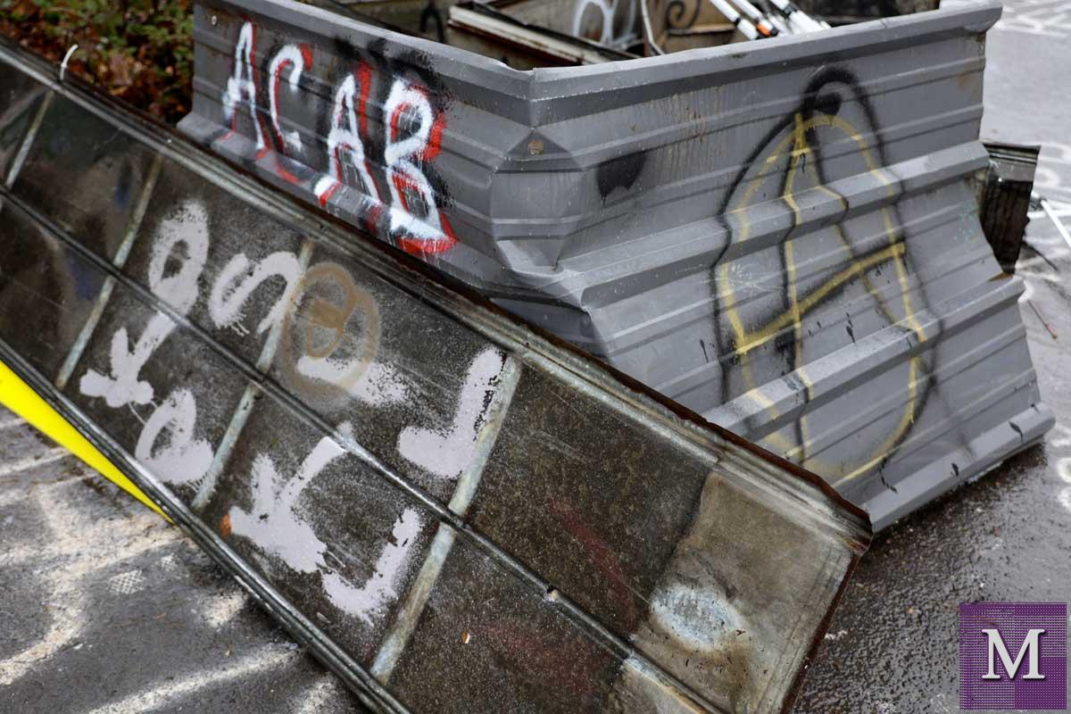 ACAB-Spray-Painted-On-Barricade