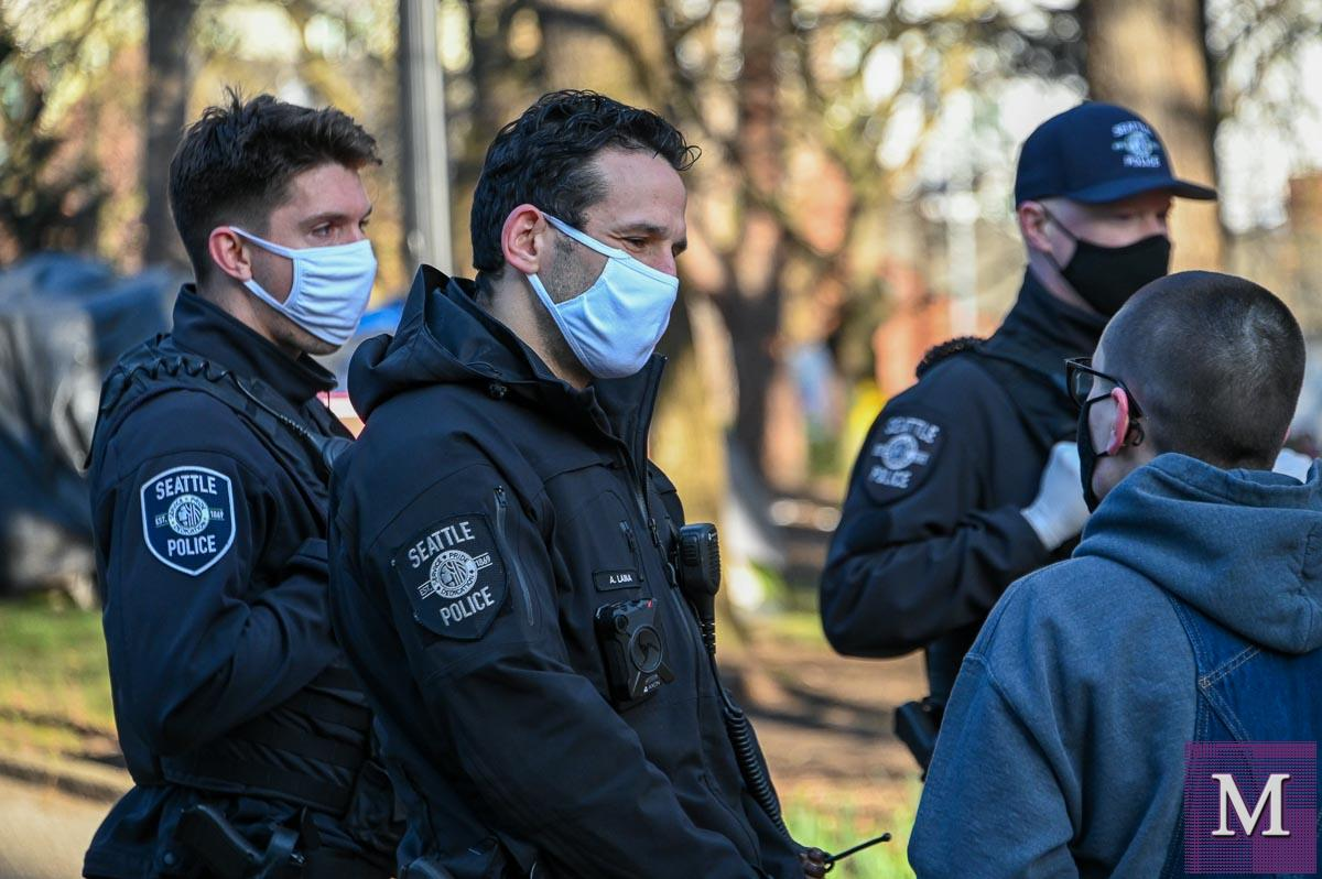 Seattle Police and Parks officials sweep Denny Park