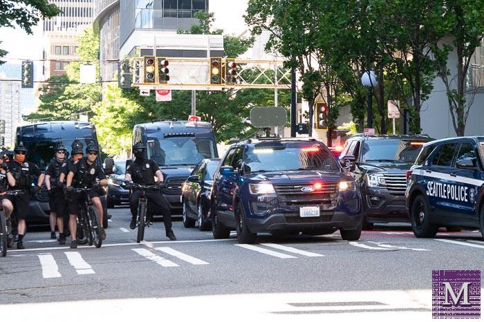 George Floyd Memorial Protest in Seattle - May 29, 2021