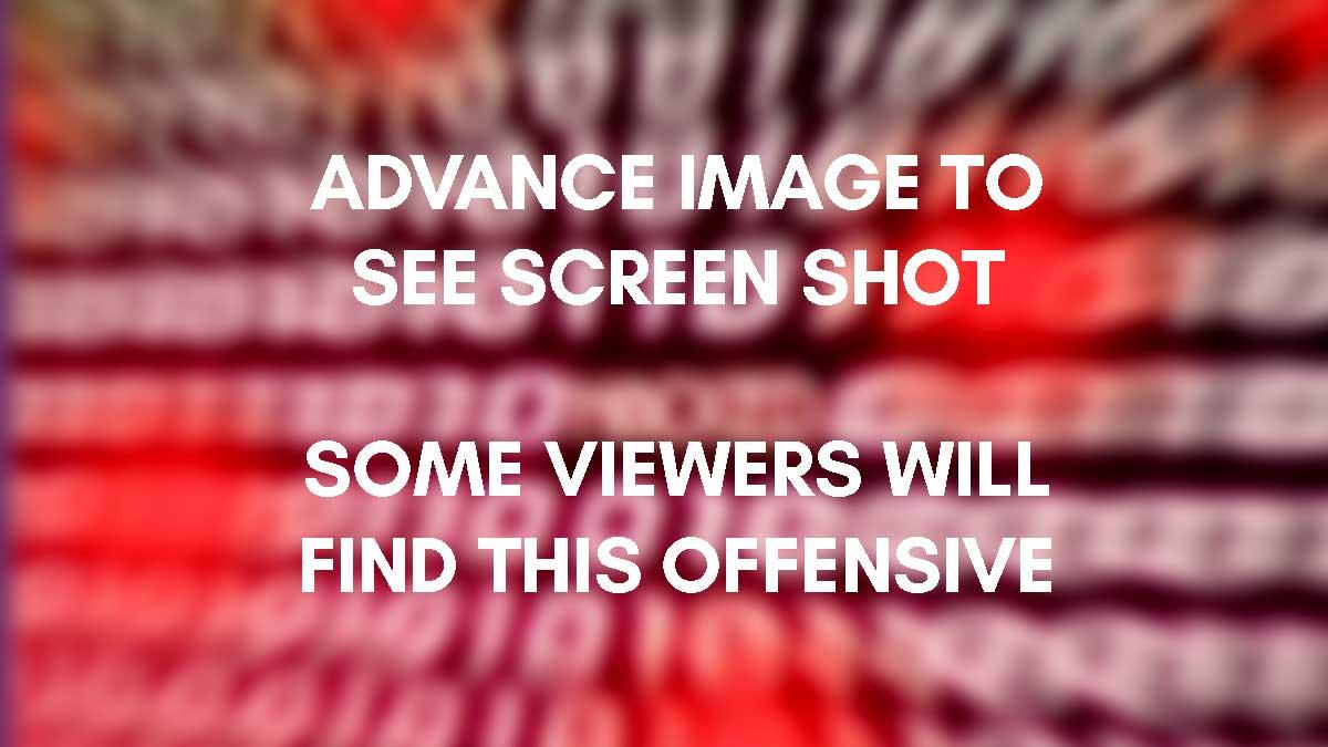 Warning Notice before proceeding to screenshots